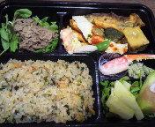 御器所駅から徒歩圏内のマンマカフェの一段弁当はオリーブオイルリゾットが特徴的なイタリアン弁当