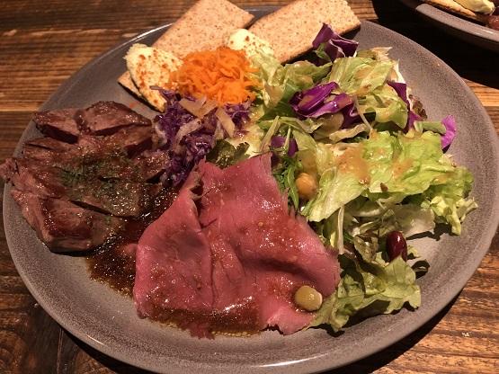 名古屋市熱田区金山駅から徒歩2分のザ・ブルックリンカフェ 金山店で昼からがっつり肉ランチの女子会