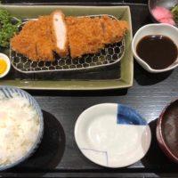 名古屋駅直結、高島屋タワーズプラザ13階、とんかつ恵亭で子供と共に味噌ロースかつ膳を食す