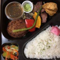 ザ・ステーキアオイAOIのお弁当は男性に大人気の牛ハラミと牛ハンバーグ弁当