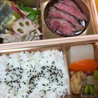 愛知県一宮市から徒歩2分、純米酒と藁焼 神楽饗の尾張牛ステーキと熟成銀ひらす西京味噌二段弁当を食べてみた