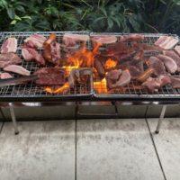 年明けBBQは焼いて食べるだけのどこでも出張満福岐阜を名古屋でやって、大満足のバーベキュー