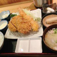 浜松町駅から徒歩7分、鹿児島黒豚料理専門店 のもと家で食べた特選ヒレコンビ定食のとんかつは鹿児島醤油がおすすめ